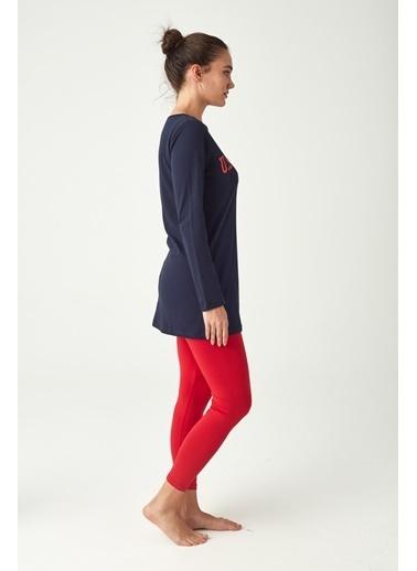 U.S. Polo Assn. Kadın Tunik Tayt Takım Lacivert